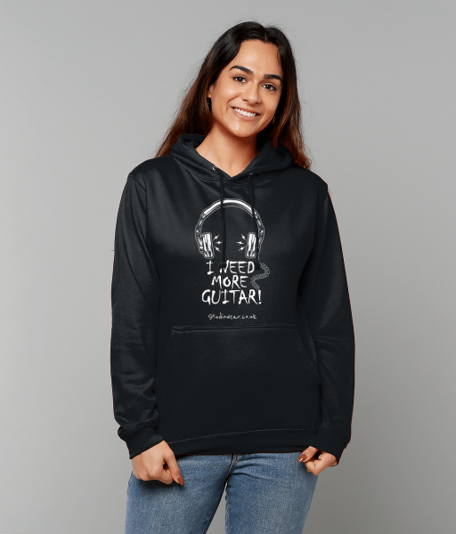 More Guitar College Hoodie Black